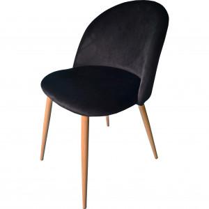 Černé pohodlné křeslo s elegantním prošíváním