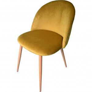 Luxusní hořčicově žluté křeslo v skandinávském stylu