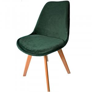 Moderní jídelní židle v zelené barvě