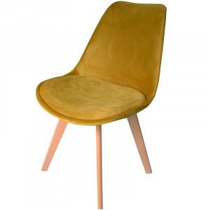 Pohodlná židle v skandinávském stylu žluté barvy