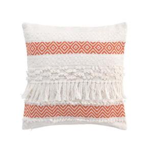 Bavlněný dekorační polštář s oranžovým motivem