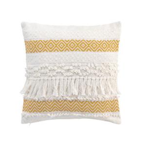 Originální polštář se žlutým skandinávským motivem