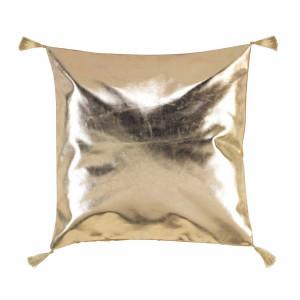 Zlatý dekorační polštář 40 x 40 cm