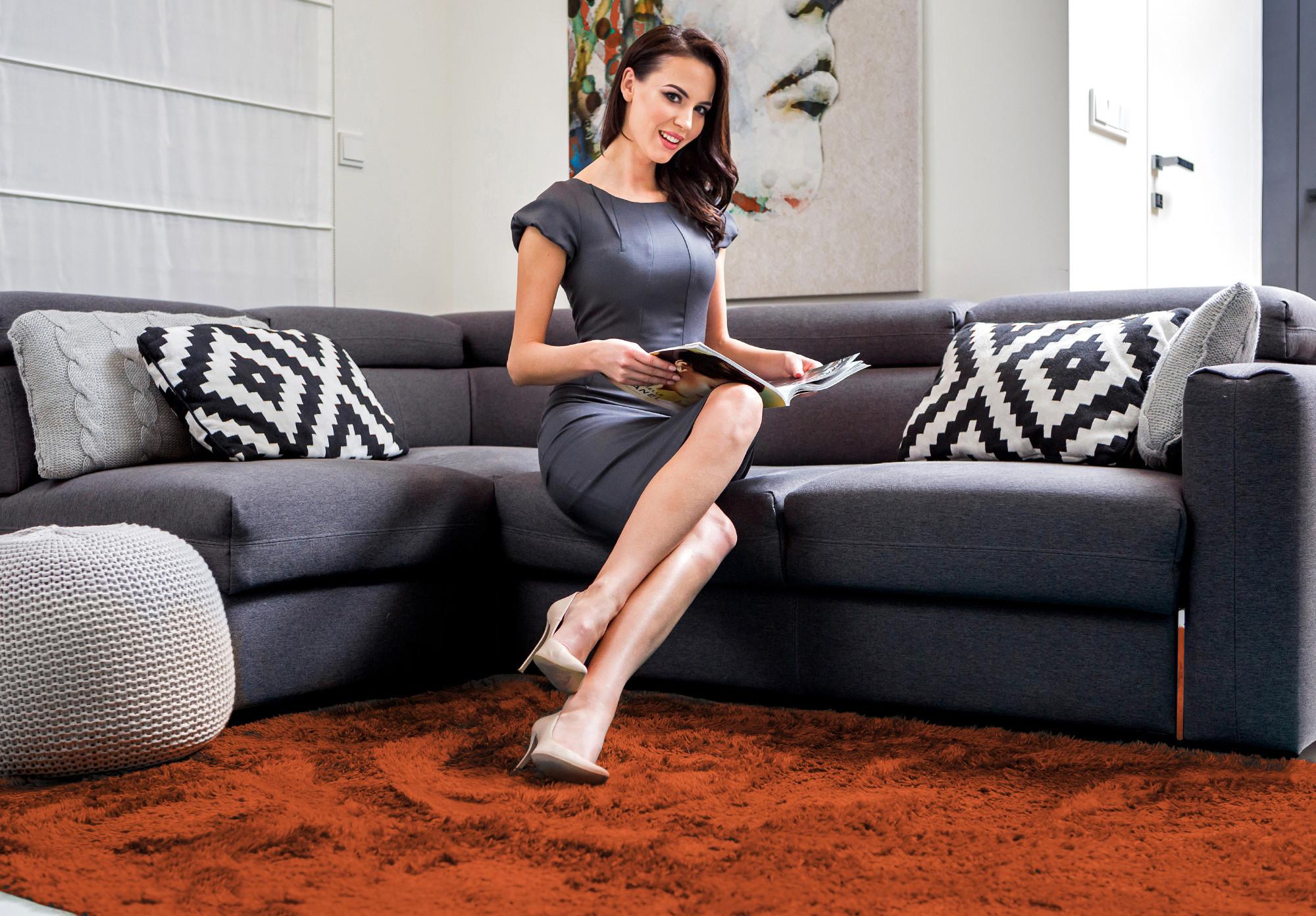 Luxusní hebký koberec hnědé barvy 120x170 cm