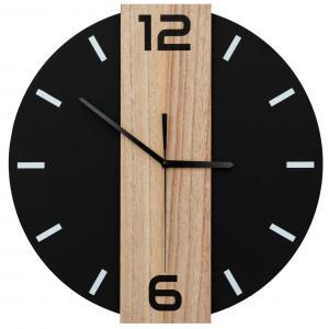 Exkluzivní nástěnné hodiny v černé barvě