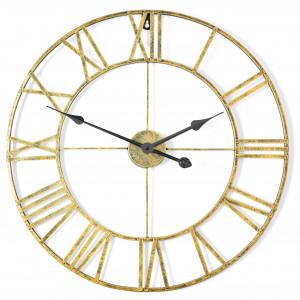 Kovové nástěnné hodiny ve Vintage stylu