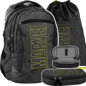 Stylová školní třídílná taška pro chlapce MARVEL