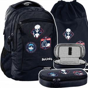 Originální školní trojčasťová taška pro chlapce UFO