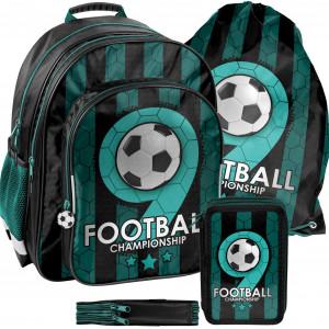 Třídílná školní taška pro chlapce s motivem FOOTBALL