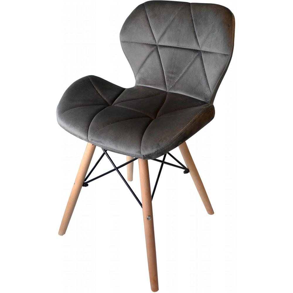 Moderní čalouněná židle tmavě šedé barvy