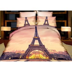 Béžový ložní povlak Eiffelova věž