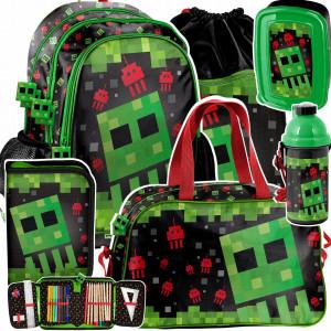 Moderní školní šestidílná taška pro chlapce MINECRAFT