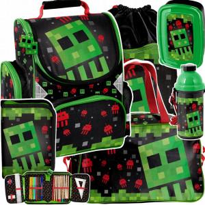Úžasná školní šestidílná taška pro chlapce minecraft