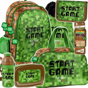 Stylový školní šestidílný batoh pro chlapce minecraft