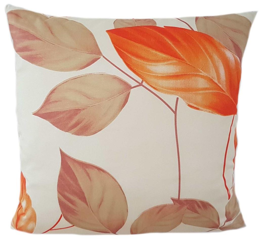 Krémový povlak s krásnými pomerančovými listmy