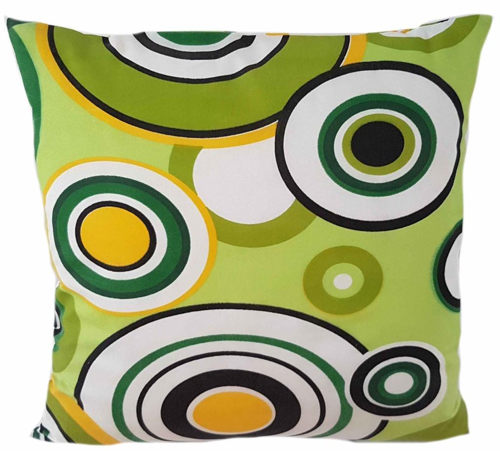 Exotický zelený povlak s geometrickou potiskem