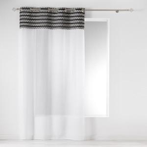 Krásná bílá záclona s módním etno dílem 140 x 240 cm