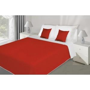 Červeno bílý přehoz na postel