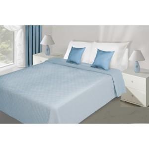 Oboustranné přehozy na postele světle modré barvy