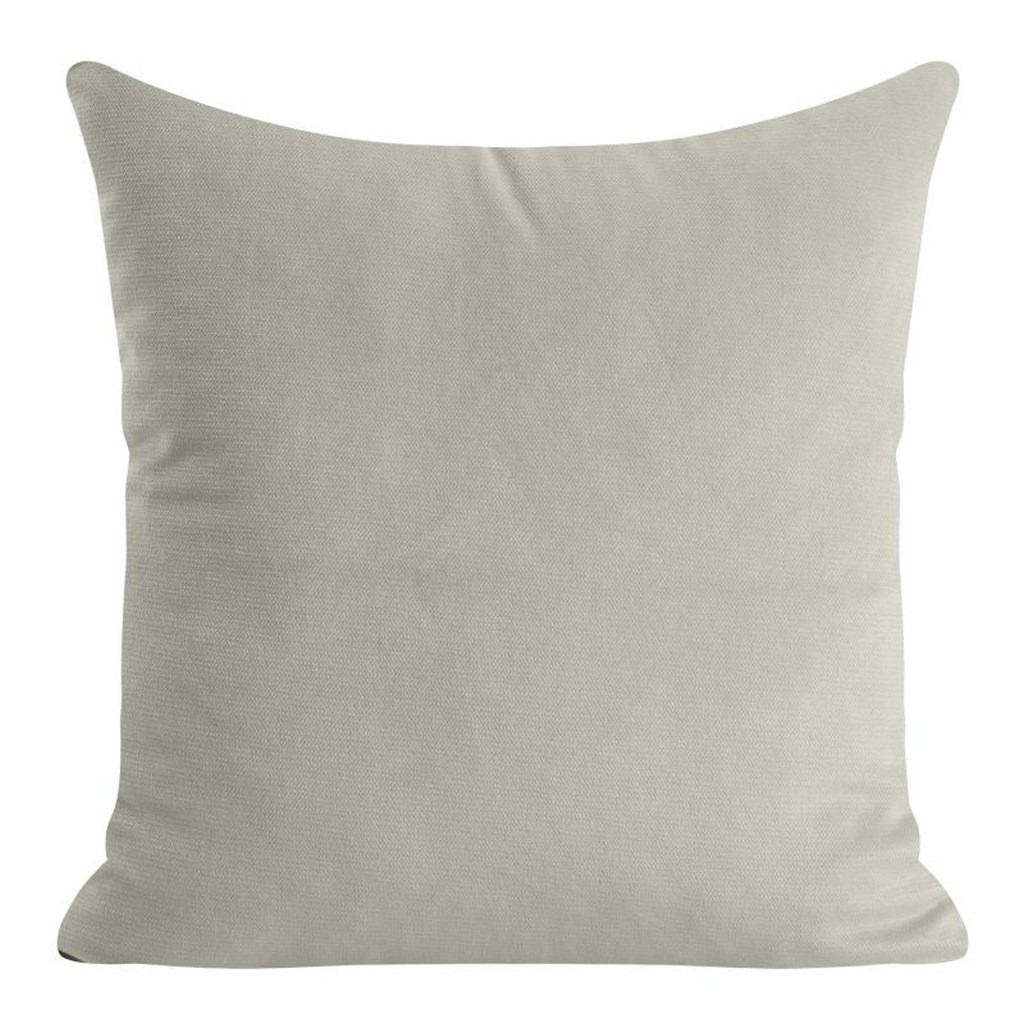 Krásný jednobarevný povlak na polštář v šedé barvě