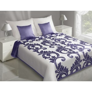 Elegantní oboustranný přehoz na manželskou postel s ornamentem