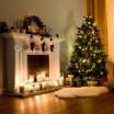 Hustý umělý vánoční stromek jedle 150 cm