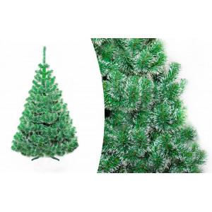 Vánoční jedle 150 cm s bílými konci větviček