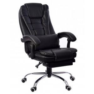 Pohodlné kancelářské křeslo s prodlouženou opěrkou nohou