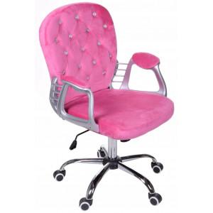 Pohodlné kancelářské křeslo v růžové barvě