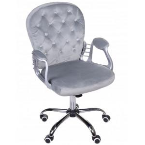 Kvalitní otočné kancelářské křeslo v šedé barvě