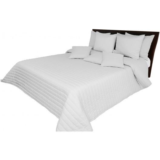 Prošívaný jednobarevný přehoz na postel světle šedé barvy