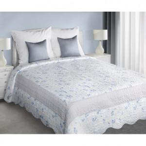 Elegantní prošívaný přehoz na postel světle šedé barvy