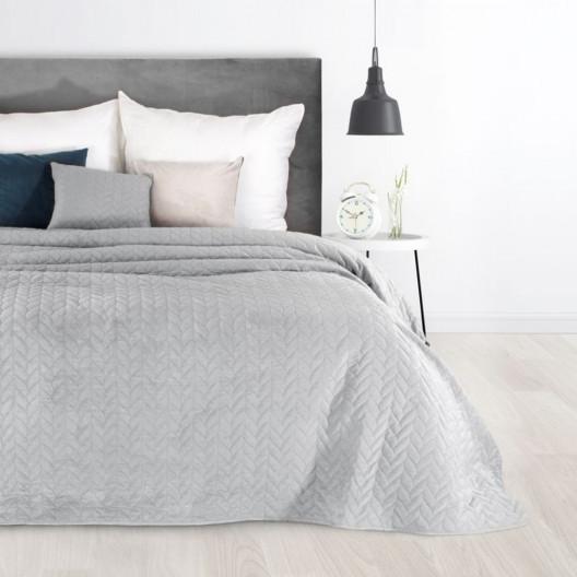 Kvalitní jednobarevný přehoz na postel šedé barvy