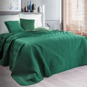 Decentní přehoz v zelené barvě