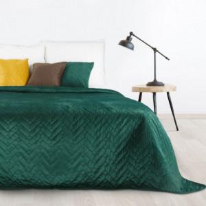 Luxusní tmavozelený přehoz na postel