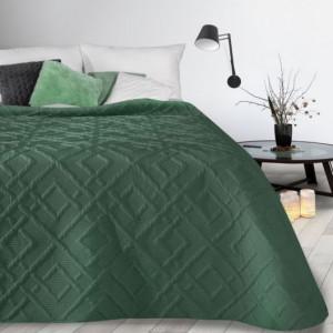 Moderní přehoz se vzorem v zelené barvě
