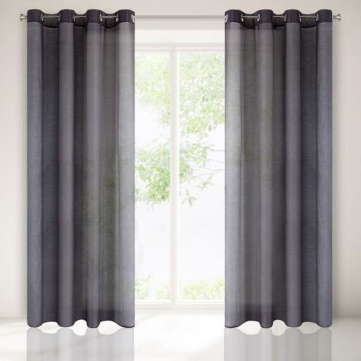 Krásné jednobarevné závěsy v šedé barvě