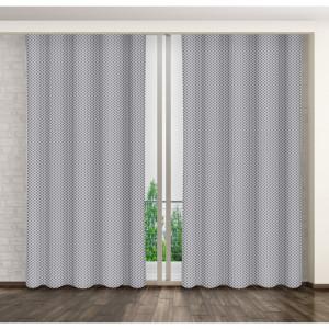 Stylové vzorované závěsy do obýváku šedé barvy
