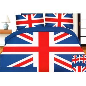 Ložní povlečení s motivem vlajky Velké Británie