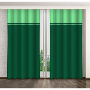Dekorační dvoubarevný závěs zelené barvy