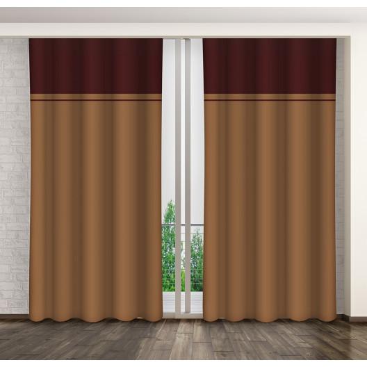 Hotové dekorační dvoubarevné závěsy do ložnice