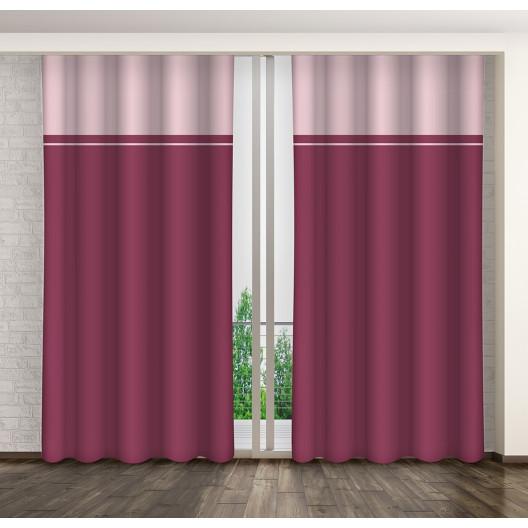 Nádherný růžový dekorační závěs do ložnice