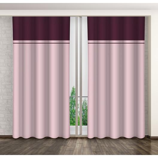 Dvoubarevný dekorační závěs do obývacího pokoje