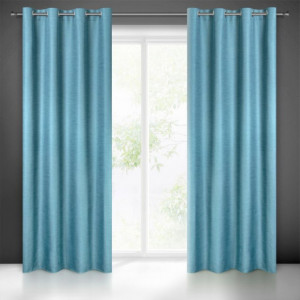 Kvalitní stínící závěsy do obýváku modré barvy