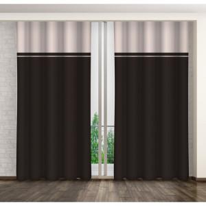 Elegantní dvoubarevné závěsy do obýváku