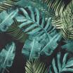 Závěs VELVET s potiskem tropických rostlin