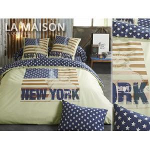 Luxusní povlečení žluto modré barvy New York