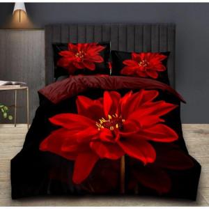 Exkluzivní 3D povlečení s červeným květem
