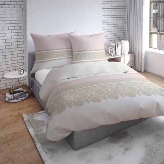 Pohodlné povlečení z bavlny v krémové růžové barvě s krásnými ornamenty