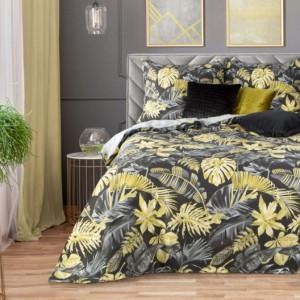 Exkluzivní povlečení s tropickým motivem žluté barvy
